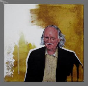 Pier Boorsma, (20 x 20 cm, acryl op canvas), troch Klaas Lageweg